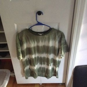 Green and white tie dye forever 21 tee